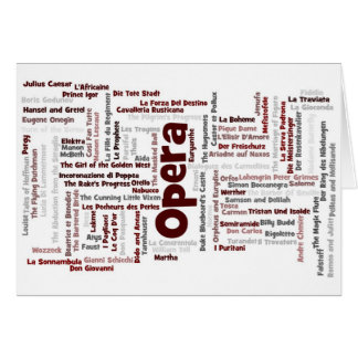 Cartes 100 plus grands opéras