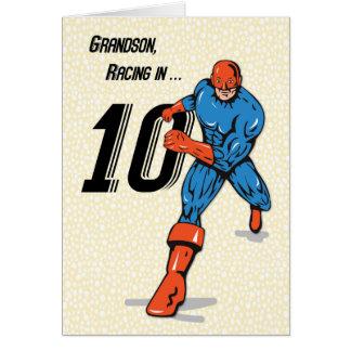 Cartes 10ème super héros d'anniversaire de petit-fils