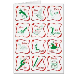 Cartes 12 jours de Noël