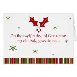 Cartes 12 jours de Noël de plouc