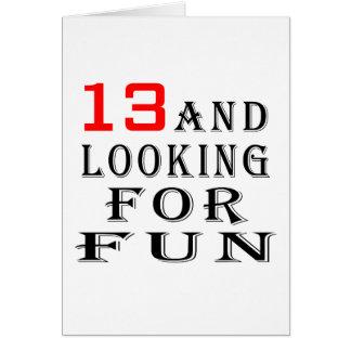 Cartes 13 et recherche des conceptions d'anniversaire