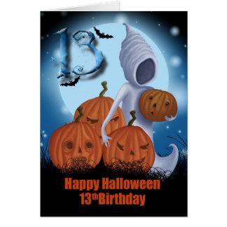 Cartes 13ème Fantôme et citrouilles de Halloween