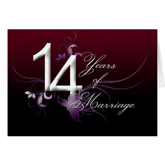 Cartes 14 ans de mariage anniversaire de mariage - Anniversaire mariage 4 ans ...
