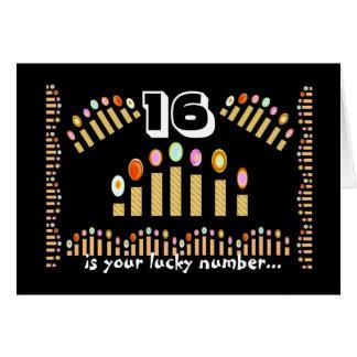 Cartes 16 est votre joyeux 16ème anniversaire chanceux de