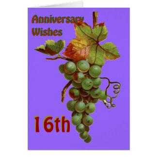 Cartes 16ème Souhaits d'anniversaire, customiseable