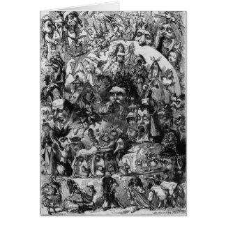 """Cartes 1861 : """"Ce qui j'ai vu dans le feu"""". Fées"""