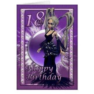 Cartes 18ème Poupée gothique d'anniversaire, joyeux