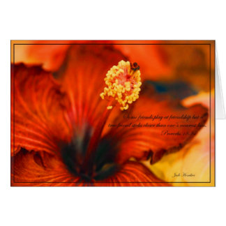 Cartes 18h24 de flamber Hibiscus~Friendship/Proverbs