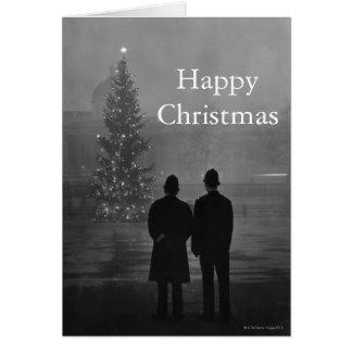 Cartes 1948 : Arbre de Noël de respect de deux policiers