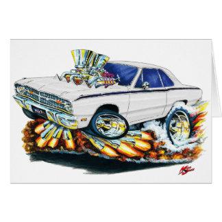 Cartes 1968-71 voiture de blanc de dard de Dodge