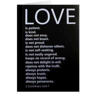 """Cartes 1 13:4 de Corinthiens - 7 DÉCRIT """"NOTRE AMOUR ! """""""