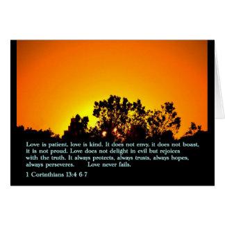 Cartes 1 coucher du soleil du 13:4 6-7 de Corinthiens