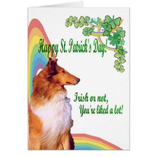Cartes 1. Le colley impressionnant irlandais ou pas vous