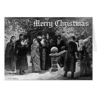 Cartes 24 décembre 1891 : Une partie de maison de