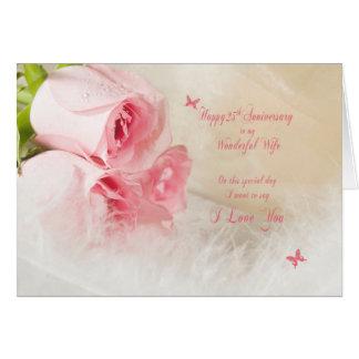Cartes 25ème Anniversaire de mariage pour l'épouse avec