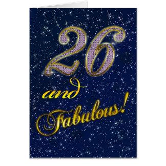 Cartes 26ème anniversaire pour quelqu'un fabuleux