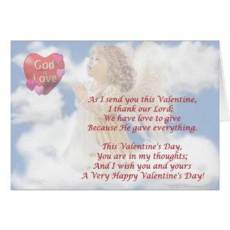 Cartes 2. Dieu angélique est amour - souhait religieux de
