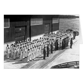 Cartes 2ÈME GUERRE MONDIALE : À bord d'USS Asheville