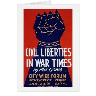 Cartes 2ÈME GUERRE MONDIALE de liberté civile WPA 1940