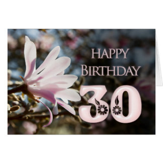 Cartes 30ème Anniversaire avec la magnolia