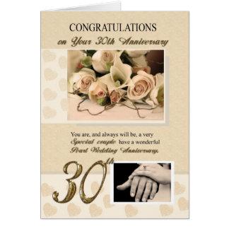 Cartes 30ème Anniversaire de mariage de perle