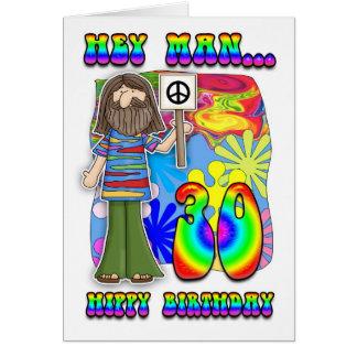 Cartes 30ème anniversaire super - anniversaire de hippie