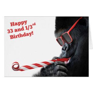 Cartes 33 1/3 affaire de singe