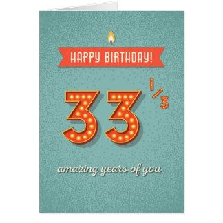Cartes 33 1/3 année extraordinaire