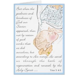 Cartes 3:4 de Titus de baptême - bain 5 de régénération