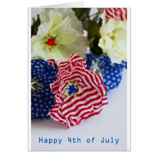 Cartes 4 juillet célébration heureuse