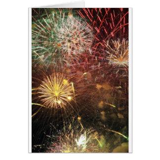 Cartes 4 juillet feux d'artifice