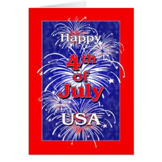 Cartes 4 juillet les Etats-Unis heureux