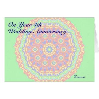 Cartes 4ème Anniversaire de mariage
