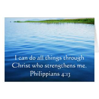 Cartes 4h13 de Philippiens inspirant le vers de bible