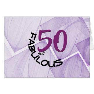 Cartes 50 heureux et typographie fabuleuse d'anniversaire