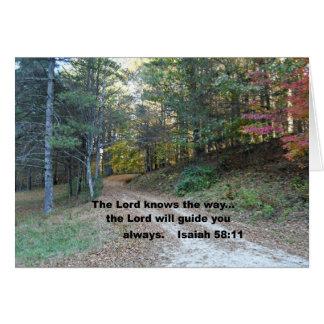 Cartes 58:11 d'Isaïe le seigneur sait la manière…