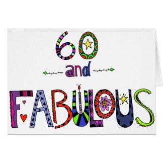 Cartes 60 et soixantième anniversaire fabuleux