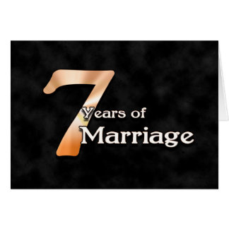 Cartes 7 ans de mariage (anniversaire de mariage)