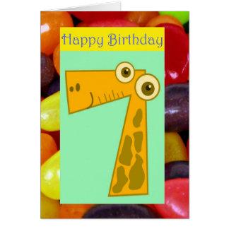 Cartes 7ème anniversaire de joyeux septième anniversaire