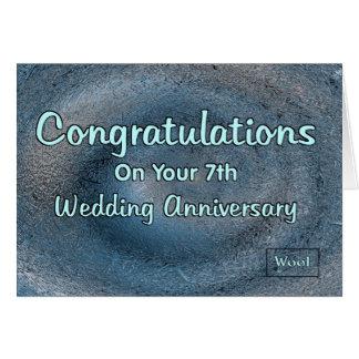Cartes 7ème Anniversaire de mariage