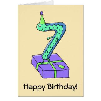 Cartes 7ème Bande dessinée d'anniversaire