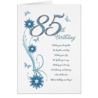 Cartes 85th anniversaire dans la sarcelle d'hiver avec