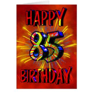 Cartes 85th Feux d'artifice d'anniversaire