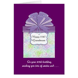 Cartes 85th panneau heureux de l'anniversaire 3