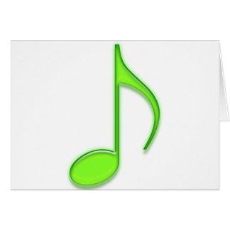 Cartes 8ème Notez la grande note musicale en verre de