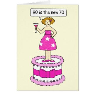 Cartes 90 est la nouvelle humeur d'anniversaire d'âge de