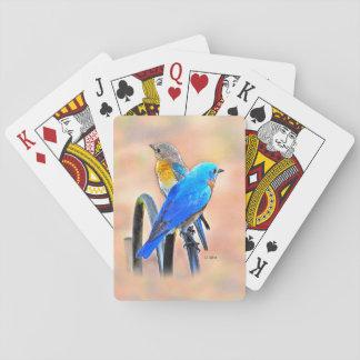 Cartes À Jouer 010 cartes de jeu d'amour d'oiseau bleu