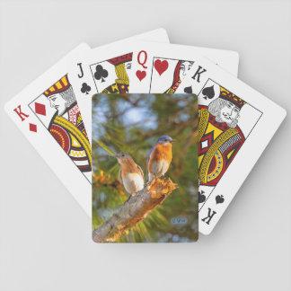 Cartes À Jouer 040 cartes de jeu de cour d'oiseau bleu