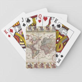 Cartes À Jouer 1652 carte du monde, carte du monde d'atlas de mer