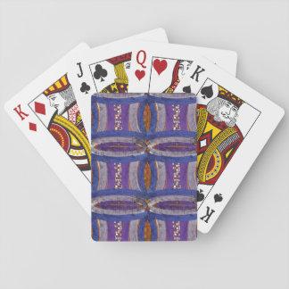 Cartes À Jouer 20ème Motif ; Barre, mosaïque et Web incurvés